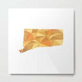 Connecticut Pattern Map Art Metal Print
