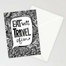 EAT WELL, TRAVEL OFTEN Stationery Cards