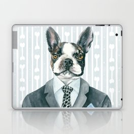 Boston Terrier Dressed for Dinner Laptop & iPad Skin