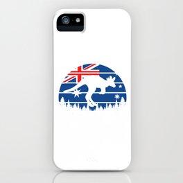 Proud Australian Australia National Pride Patriotic Australian Kangaroo Gift iPhone Case