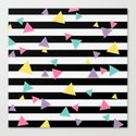 80's Black White Colorful Triangle by endlesssummer