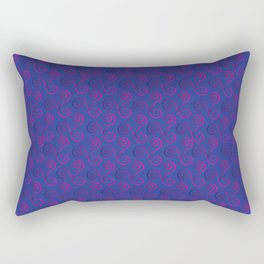 Electric Pink Lace Triskelion on Navy Rectangular Pillow