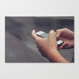 Texting Photo Canvas Print
