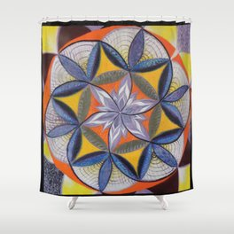 El Centro del Mandala eres tú - The Centre of the Mandala is You Shower Curtain
