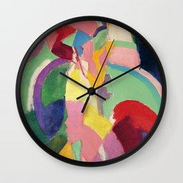 "Robert Delaunay ""Woman with an Umbrella"" (also known as ""Parisian Woman"") Wall Clock"