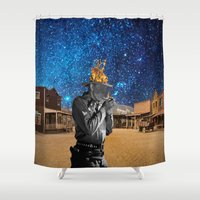 western Shower Curtains featuring Western by Cs025