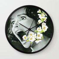 scream Wall Clocks featuring Scream by Ben Giles