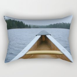 Tranquil Canoe Rectangular Pillow