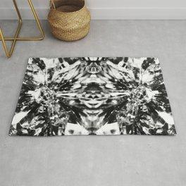 Mirrored Crystal Black & White Rug