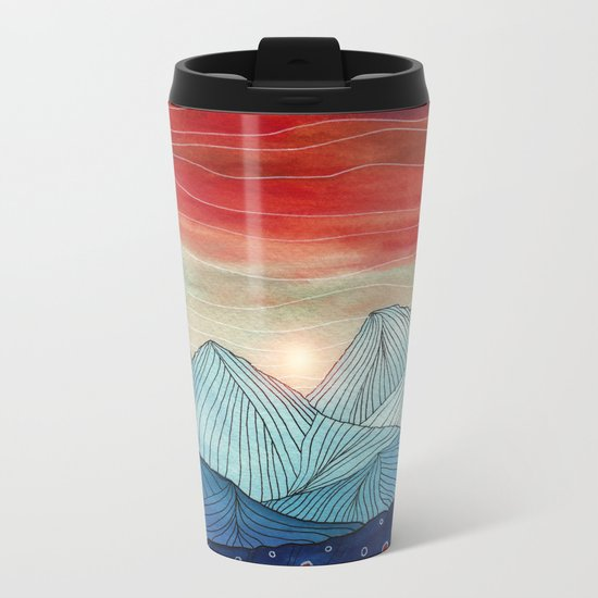 Lines in the mountains IV Metal Travel Mug