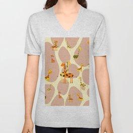 Giraffes Unisex V-Neck