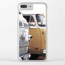 Vintage Buses Clear iPhone Case