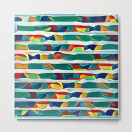 Waves of Noise ~ Paint Metal Print