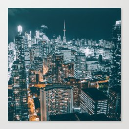 Toronto by night - City at night Canvas Print