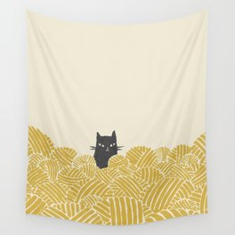 Cat and Yarn Wall Tapestry