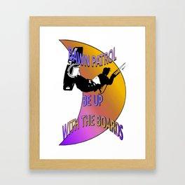 Dawn Patrol - Orange Be Up With The Boards Kitesurf Framed Art Print