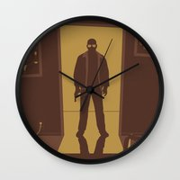 breaking bad Wall Clocks featuring Breaking Bad by Brandon Riesgo