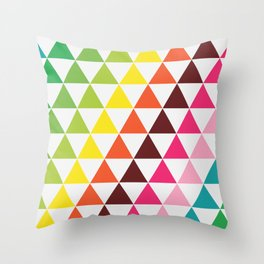 Palette Triangles #1 Throw Pillow