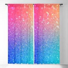 Glitter Rainbow Mermaid Sparkle Ombre Blackout Curtain
