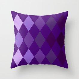 Purple Argyle Pattern Throw Pillow