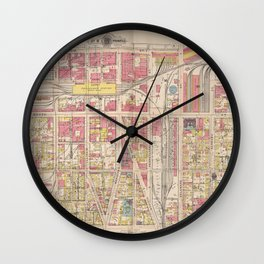 Indianapolis 1916 Wall Clock