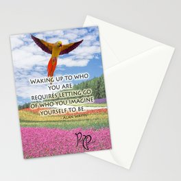 """Posh Parrot """"Waking up"""" Parrot Stationery Cards"""
