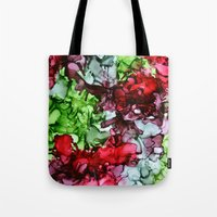 tmnt Tote Bags featuring TMNT by Claire Day