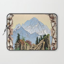 MOUNT LARRABEE WOOD PILE Laptop Sleeve