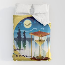 Sand-glass with southern landscape Comforters