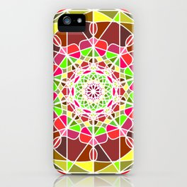 abstract colored detailed bright mandala iPhone Case