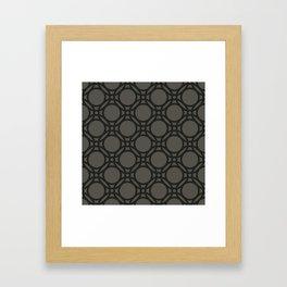 Black and Grey Interlinking Circles Framed Art Print