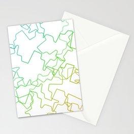 Blue Green Broken Stationery Cards