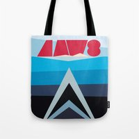 jaws Tote Bags featuring Jaws by Sam Kee for MAX YAM