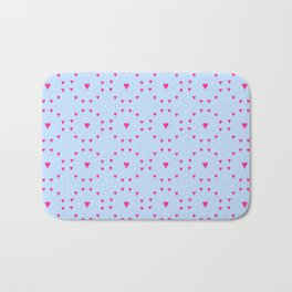heart and love 5 - pink and blue Bath Mat