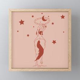 Fanny Ropes the Moon Framed Mini Art Print