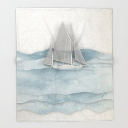 Floating Ship Throw Blanket