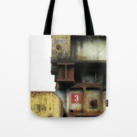 industrial Tote Bags featuring Industrial by mimifaktur