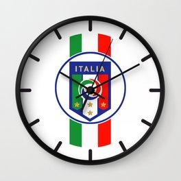 Italia Gli Azzurri Wall Clock