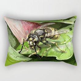 Wasp on flower16 Rectangular Pillow
