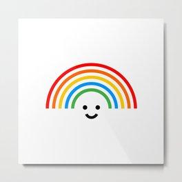 Smiley rainbow Metal Print