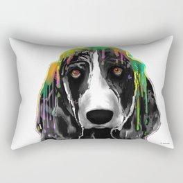 Basset Hound BW Rectangular Pillow