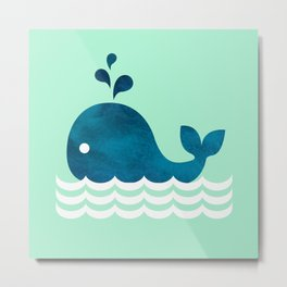 Little Whale Metal Print