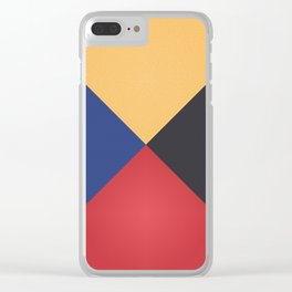Primary Colors Triangles Clear iPhone Case
