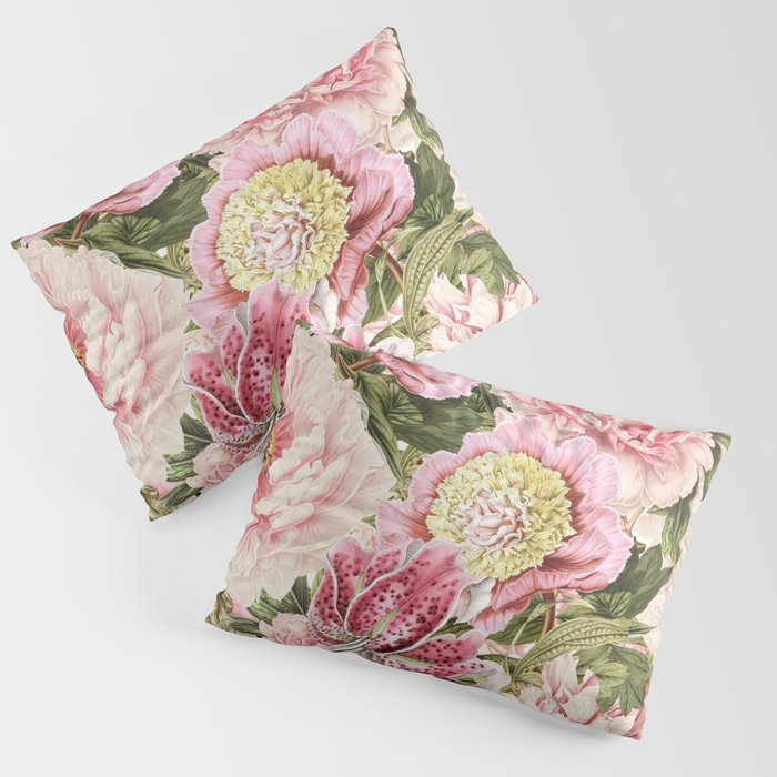 Vintage & Shabby Chic Floral Peony & Lily Flowers Watercolor Pattern Kissenbezug