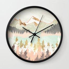 Winter Bay Wall Clock