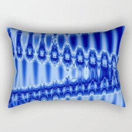Blue Waves Rectangular Pillow