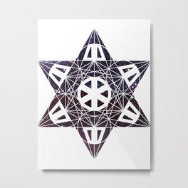 Metatron's Cube Time Wheel ~ Starry Night 2 Metal Print