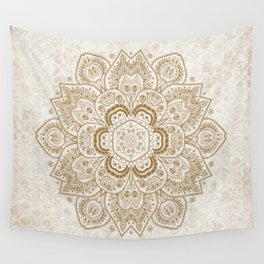 Mandala Temptation in Cream Wall Tapestry