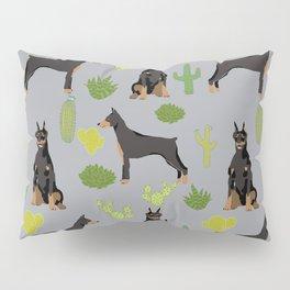 Doberman Pinscher cactus desert southwest gifts for dog lover pet owner must haves pet friendly Pillow Sham