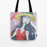 marceline Tote Bags featuring marceline!! by clairen0vak